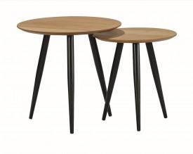 Zestaw dwóch stolików w stylu industrialnym Leo