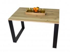 Industrialny stół do jadalni z blatem drewnianym Tucson