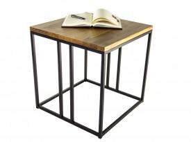 Kwadratowy stolik kawowy w stylu industrialnym Nordic