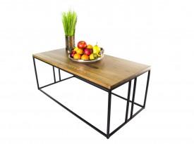 Prostokątny stolik kawowy w stylu industrialnym Nordic