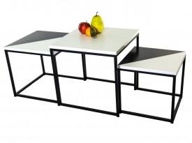 Zestaw 3 lakierowanych stolików Origami Classic