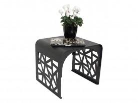 Czarny stolik w całości z metalu Matrix