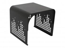 Metalowy stolik z ażurową podstawą New York