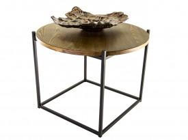 Okrągły stolik kawowy w stylu industrialnym Saturno