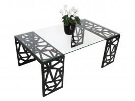 Nowoczesny stolik do salonu ze szklanym blatem Matrix