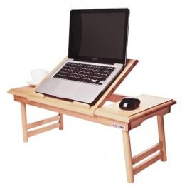 Drewniany stolik pod laptopa z podnoszonym blatem Duo