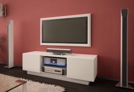 Szafka RTV ze szklaną półką Omega 4 mat