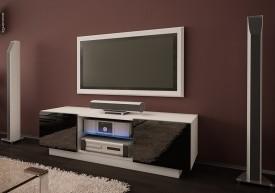 Szafka RTV ze szklaną półką Omega 4 wysoki połysk