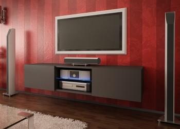 Nowoczesna szafka RTV ze szklaną półką Omega 5 mat
