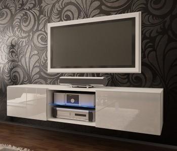 Nowoczesna szafka RTV ze szklaną półką Omega 5 wysoki połysk