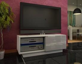 Szafka RTV z regulowaną szklaną półką Omega 7 wysoki połysk
