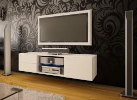 Szafka RTV z szufladami i szklaną półką Omega 8 mat