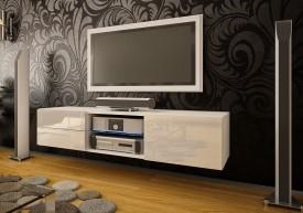 Szafka RTV z szufladami i szklaną półką Omega 9 wysoki połysk