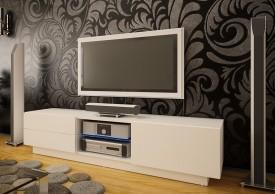Szeroka szafka RTV z szufladami Omega 10 mat
