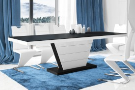 Rozkładany stół do jadalni Vega czarny mat