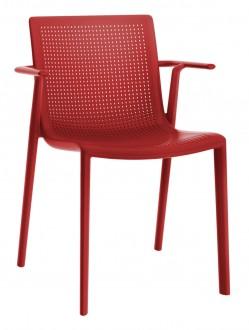 Krzesło z tworzywa sztucznego BeeKat z podłokietnikami