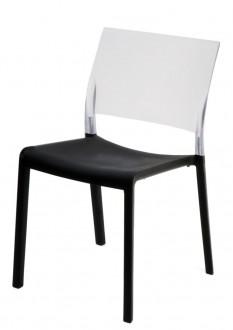 Dwukolorowe krzesło do kawiarni Fiona