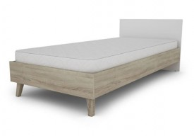 Łóżko do sypialni Molde 90 w stylu skandynawskim dąb sonoma