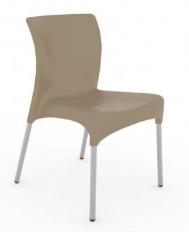 Krzesło kawiarniane na metalowych nogach Moon