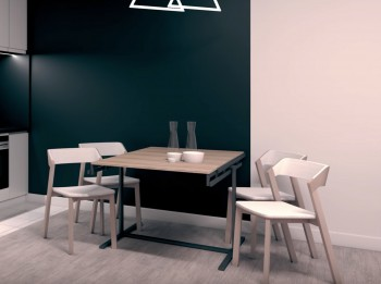Industrialny stół z możliwością przekształcenia w regał Magic House