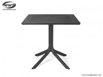 Kwadratowy stolik do kawiarni i ogrodu Clip