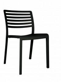 Krzesło kawiarniane z tworzywa sztucznego Lama bez podłokietników