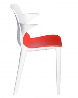 Krzesło kawiarniane z podłokietnikami Lyza