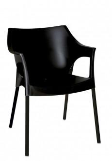 Krzesło kawiarniane na metalowych nogach Pole Deluxe