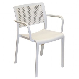 Krzesło do kawiarni i ogrodu z podłokietnikami Trama