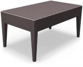 Prostokątny stolik do ogrodu z tworzywa Ipanema