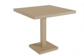 Kwadratowy stół do kawiarni na jednej nodze Barcino