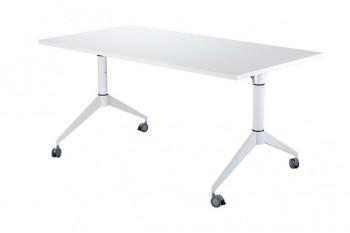 Składane biurko na kółkach w kolorze białym Desk