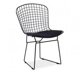 Designerskie krzesło na czarnym stelażu Fino