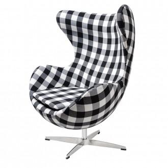 Designerski fotel z funkcją bujania Egg Classic kratka