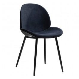 Tapicerowane krzesło na metalowych nogach Beetle