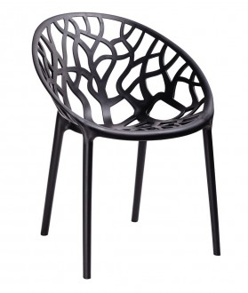 Ażurowe krzesło z tworzywa sztucznego Koral