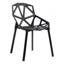 Designerskie krzesło na metalowych nogach Split