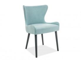 Tapicerowane krzesło na drewnianych nogach Passo