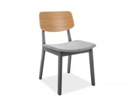 Drewniane krzesło z tapicerowanym siedziskiem Benito