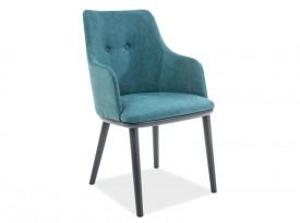 Tapicerowane krzesło na drewnianych nogach Flip