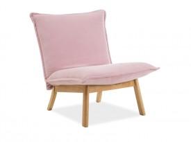 Tapicerowany fotel na drewnianej podstawie Bollo 1