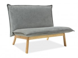 Tapicerowana sofa na drewnianej podstawie Bollo 2