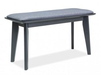 Drewniana ławka z tapicerowanym siedziskiem Vitro