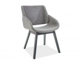 Tapicerowane krzesło z podłokietnikami Nest