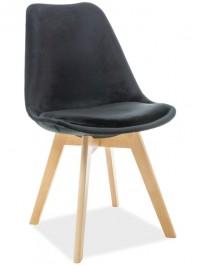 Tapicerowane krzesło na bukowych nogach Dior Velvet