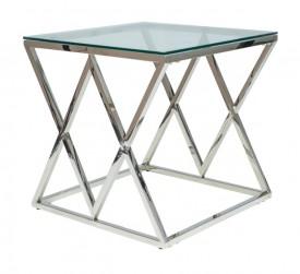 Designerski stolik kawowy ze szklanym blatem Zegna B
