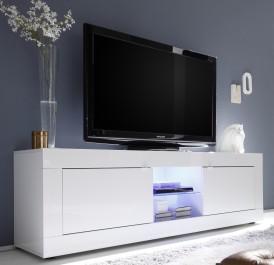 Duża szafka RTV w wysokim połysku Basic