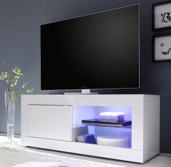 Mała szafka RTV w wysokim połysku Basic