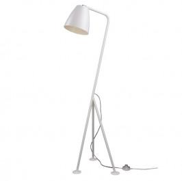Metalowa lampa podłogowa Omega biała