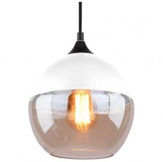 Wisząca lampa Manhattan Chic 1 biała-amber